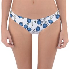 Blue Roses Reversible Hipster Bikini Bottoms by jumpercat