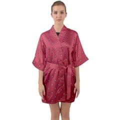 Strawberry Pattern Quarter Sleeve Kimono Robe by jumpercat