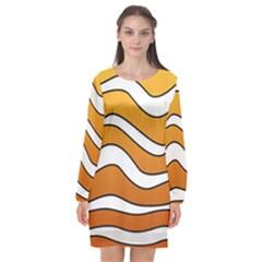 Nemo Long Sleeve Chiffon Shift Dress  by jumpercat