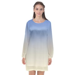 Aurora Long Sleeve Chiffon Shift Dress  by jumpercat