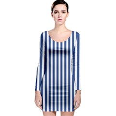 Blue Stripes Long Sleeve Bodycon Dress by jumpercat
