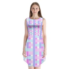 Gingham Nursery Baby Blue Pink Sleeveless Chiffon Dress   by BangZart