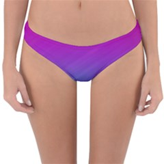 Background Pink Blue Gradient Reversible Hipster Bikini Bottoms by BangZart