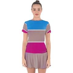 Pattern Template Banner Background Drop Hem Mini Chiffon Dress by BangZart