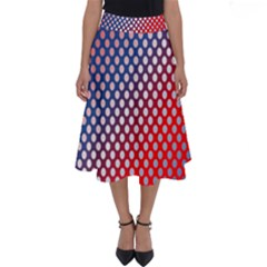 Dots Red White Blue Gradient Perfect Length Midi Skirt
