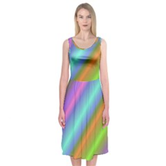 Background Course Abstract Pattern Midi Sleeveless Dress