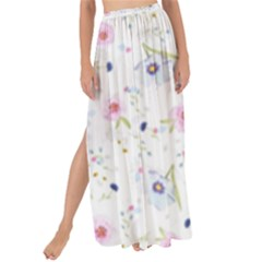 Floral Pattern Background Maxi Chiffon Tie Up Sarong by BangZart
