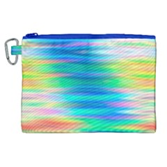 Wave Rainbow Bright Texture Canvas Cosmetic Bag (xl) by BangZart