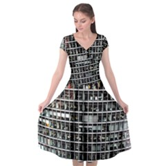 Skyscraper Glass Facade Offices Cap Sleeve Wrap Front Dress by BangZart