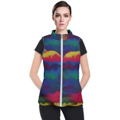 Watercolour Color Background Women s Puffer Vest by BangZart