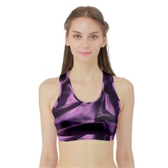 Shiny Purple Silk Royalty Sports Bra With Border by BangZart