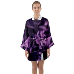 Shiny Purple Silk Royalty Long Sleeve Kimono Robe by BangZart