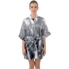 Architecture Skyscraper Quarter Sleeve Kimono Robe by BangZart