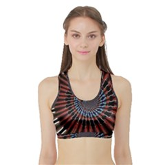 The Fourth Dimension Fractal Noise Sports Bra With Border by BangZart