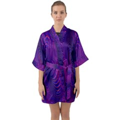 Abstract Fantastic Fractal Gradient Quarter Sleeve Kimono Robe by BangZart