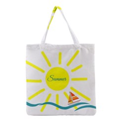 Summer Beach Holiday Holidays Sun Grocery Tote Bag by BangZart