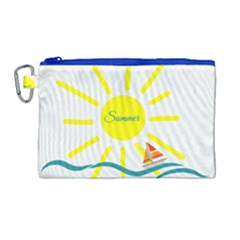 Summer Beach Holiday Holidays Sun Canvas Cosmetic Bag (large) by BangZart