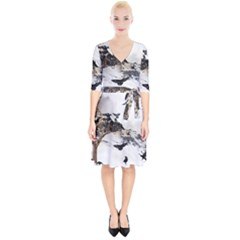 Birds Crows Black Ravens Wing Wrap Up Cocktail Dress by BangZart