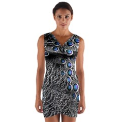 Feather Bird Bird Feather Nature Wrap Front Bodycon Dress by BangZart