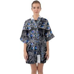 Feather Bird Bird Feather Nature Quarter Sleeve Kimono Robe by BangZart