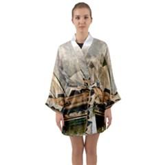 Sydney The Opera House Watercolor Long Sleeve Kimono Robe by BangZart