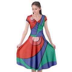 Clipart Portrait Illustration Cap Sleeve Wrap Front Dress by BangZart