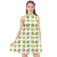 St Patrick S Day Background Symbols Halter Neckline Chiffon Dress