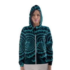 Fractals Form Pattern Abstract Hooded Wind Breaker (women)