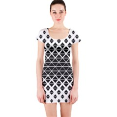 Triangle Pattern Background Short Sleeve Bodycon Dress