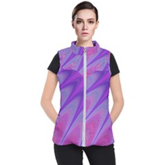 Purple Star Sun Sunshine Fractal Women s Puffer Vest by BangZart