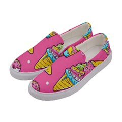 Summer Ice Creams Flavors Pattern Women s Canvas Slip Ons by allthingseveryday