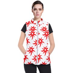 Star Figure Form Pattern Structure Women s Puffer Vest by Celenk