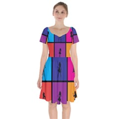 Girls Fashion Fashion Girl Young Short Sleeve Bardot Dress by Celenk