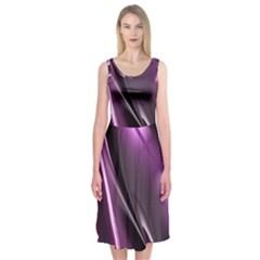 Fractal Mathematics Abstract Midi Sleeveless Dress