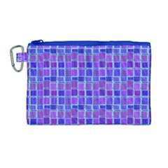 Background Mosaic Purple Blue Canvas Cosmetic Bag (large) by Celenk