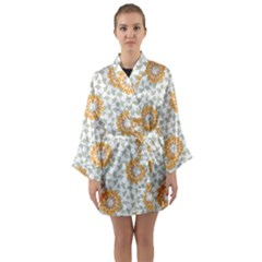 Stamping Pattern Fashion Background Long Sleeve Kimono Robe by Celenk