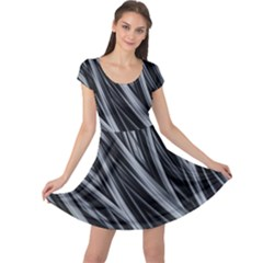 Fractal Mathematics Abstract Cap Sleeve Dress