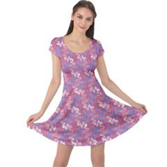 Pattern Abstract Squiggles Gliftex Cap Sleeve Dress