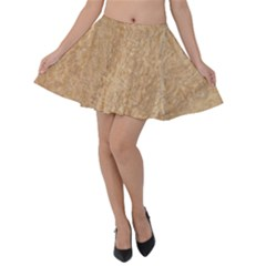 Rock Tile Marble Structure Velvet Skater Skirt by Celenk