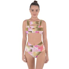 Collage Gold And Pink Bandaged Up Bikini Set  by 8fugoso