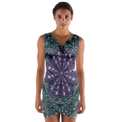 Star And Flower Mandala In Wonderful Colors Wrap Front Bodycon Dress by pepitasart