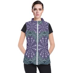 Star And Flower Mandala In Wonderful Colors Women s Puffer Vest by pepitasart