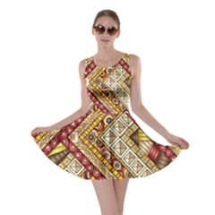 Ethnic Pattern Styles Art Backgrounds Vector Skater Dress