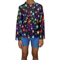 Fireworks Rocket New Year S Day Kids  Long Sleeve Swimwear by Celenk