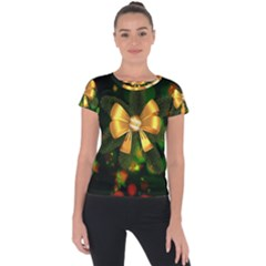 Christmas Celebration Tannenzweig Short Sleeve Sports Top  by Celenk