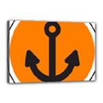 Anchor Keeper Sailing Boat Canvas 18  x 12