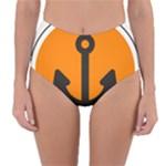 Anchor Keeper Sailing Boat Reversible High-Waist Bikini Bottoms