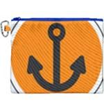 Anchor Keeper Sailing Boat Canvas Cosmetic Bag (XXXL)