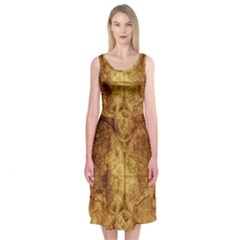 Map Of The World Old Historically Midi Sleeveless Dress