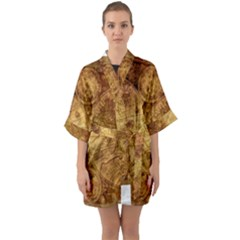 Map Of The World Old Historically Quarter Sleeve Kimono Robe by Celenk